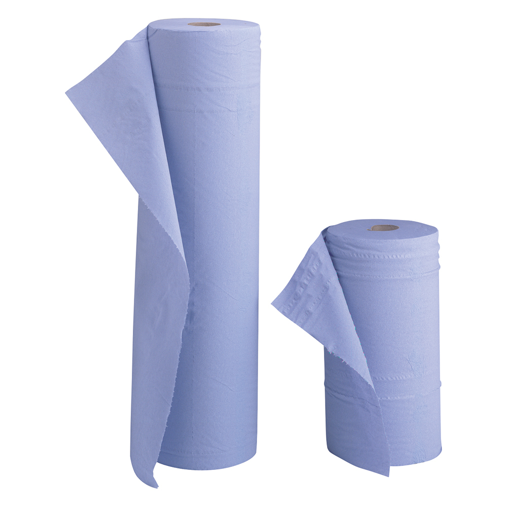 Business Hygiene Roll 10 Inch Width 100 per cent recycled 2-ply 130 Sheets W251xL457mm 40m Blue