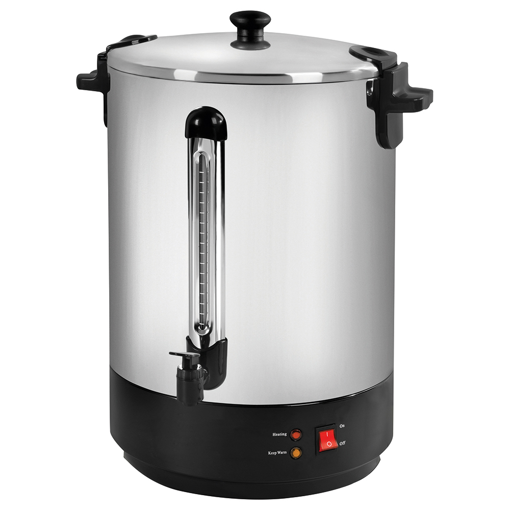 Business Catering Urn Locking Lid Water Gauge Boil Dry Overheat Protection 2500W 30 Litre