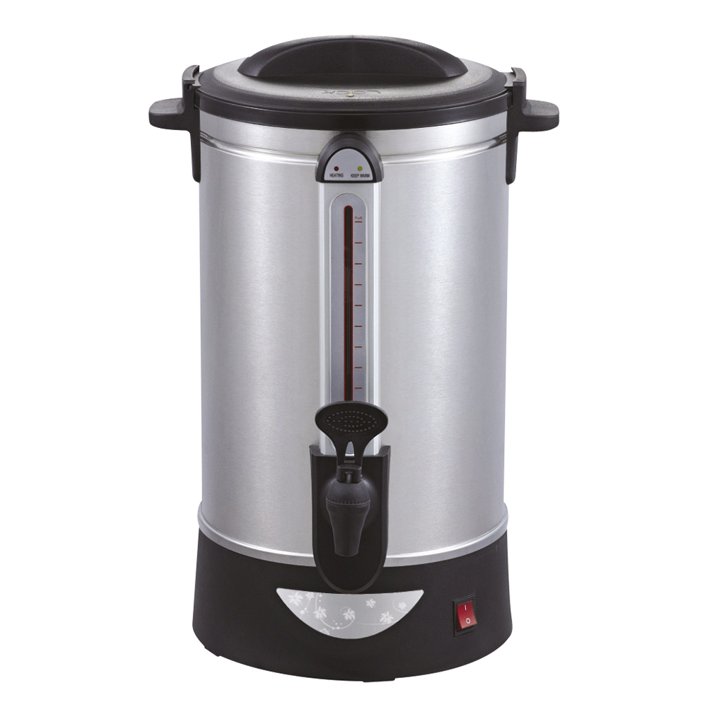 Business Catering Urn Locking Lid Water Gauge Boil Dry Overheat Protection 1600W 10 Litre