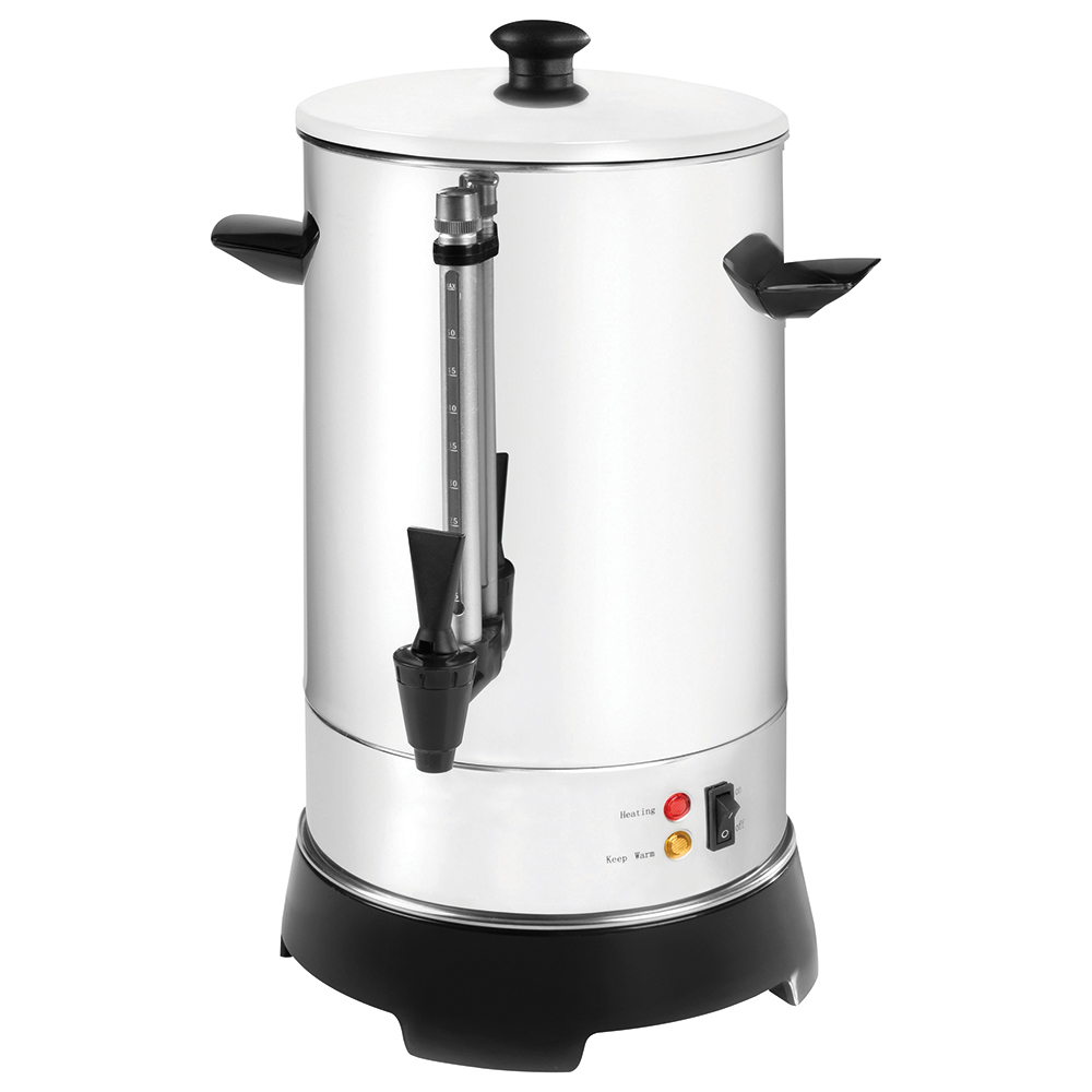 5 Star Facilities Catering Urn Locking Lid Water Gauge Boil Dry Overheat Protection 1600W 10 Litre