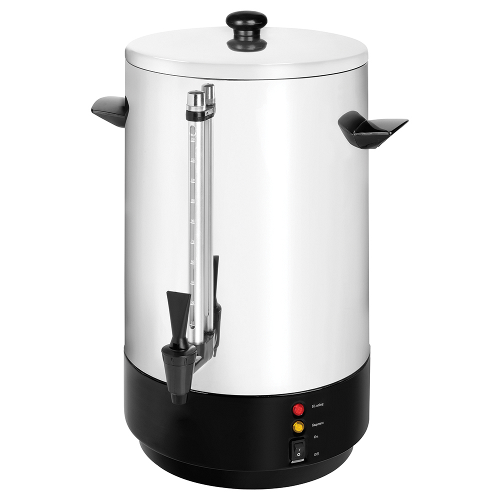 Business Catering Urn Locking Lid Water Gauge Boil Dry Overheat Protection 1600W 20 Litre