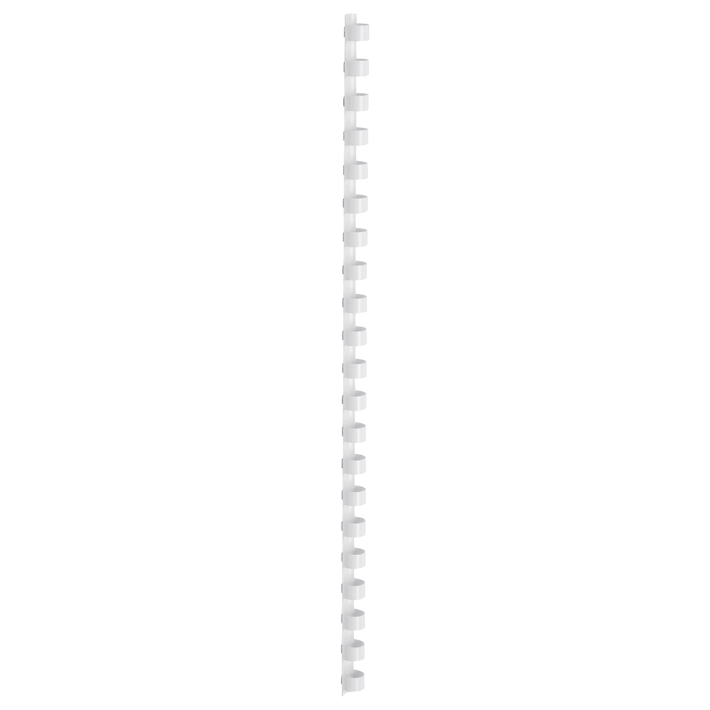 Business Binding Combs Plastic 21 Ring 65 Sheets A4 10mm White [Pack 100]