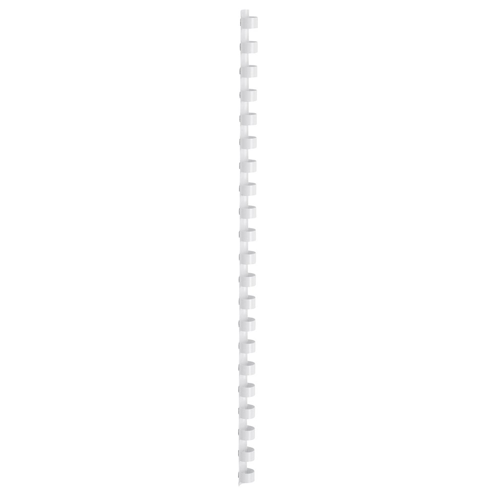 Business Binding Combs Plastic 21 Ring 95 Sheets A4 12mm White [Pack 100]