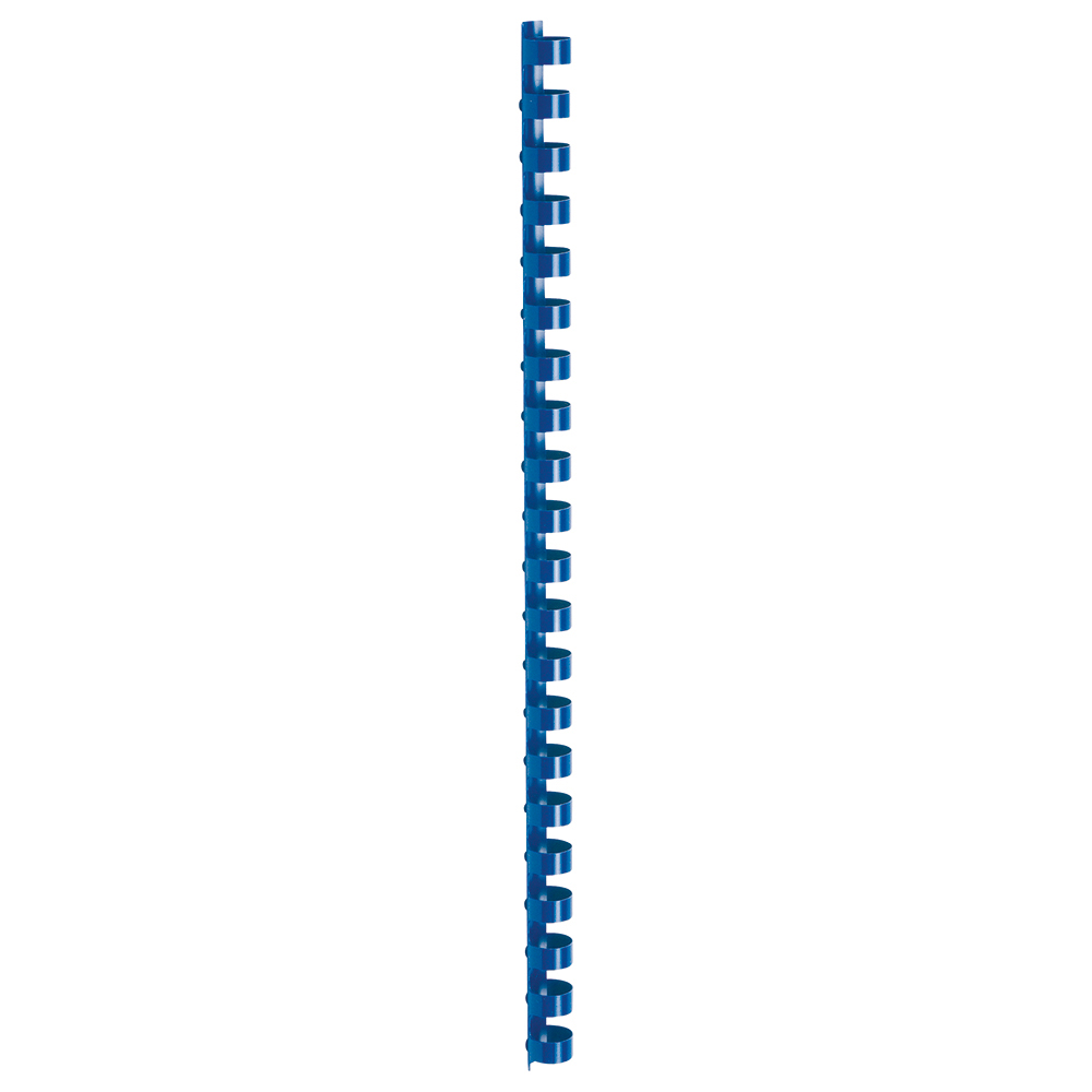 Business Binding Combs Plastic 21 Ring 95 Sheets A4 12mm Blue [Pack 100]