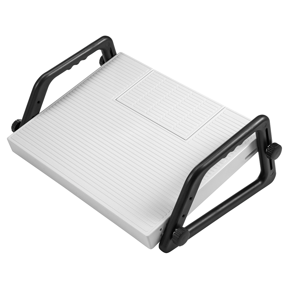 Business Relax Footrest with Dictation Compartment Platform 450x350mm Compartment 220x120x20mm Grey