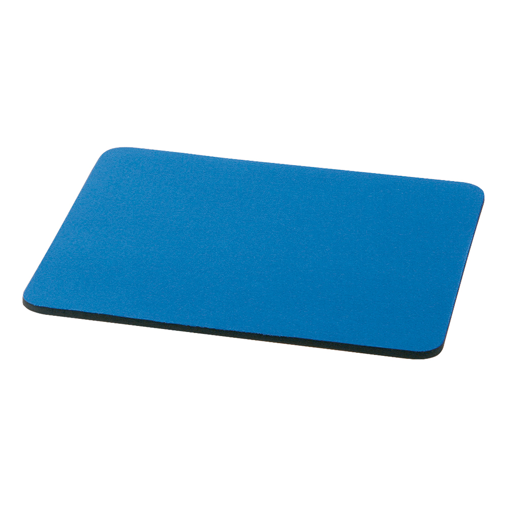 Business Mouse Mat with 6mm Rubber Sponge Backing W248xD220mm Blue