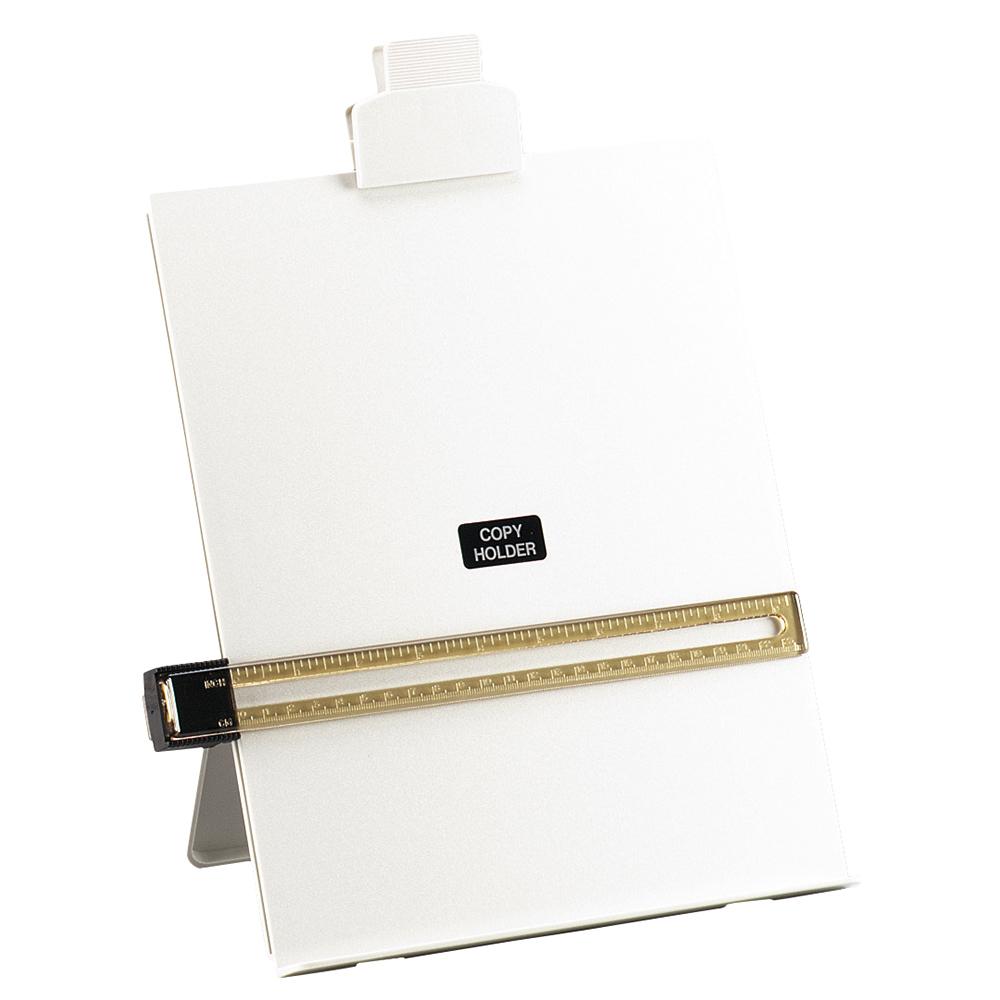 Business Desktop Copyholder with Line Guide Ruler A4 Grey