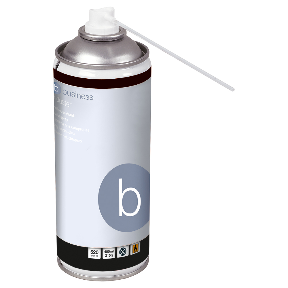 Business Spray Duster Can HFC Free Compressed Gas Flammable 400ml [Pack 4]
