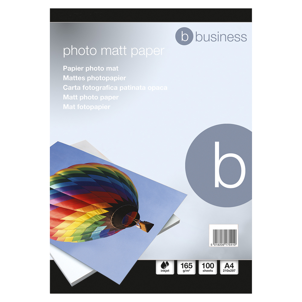 Business Inkjet Paper Matt 165gsm A4 White [100 Sheets]