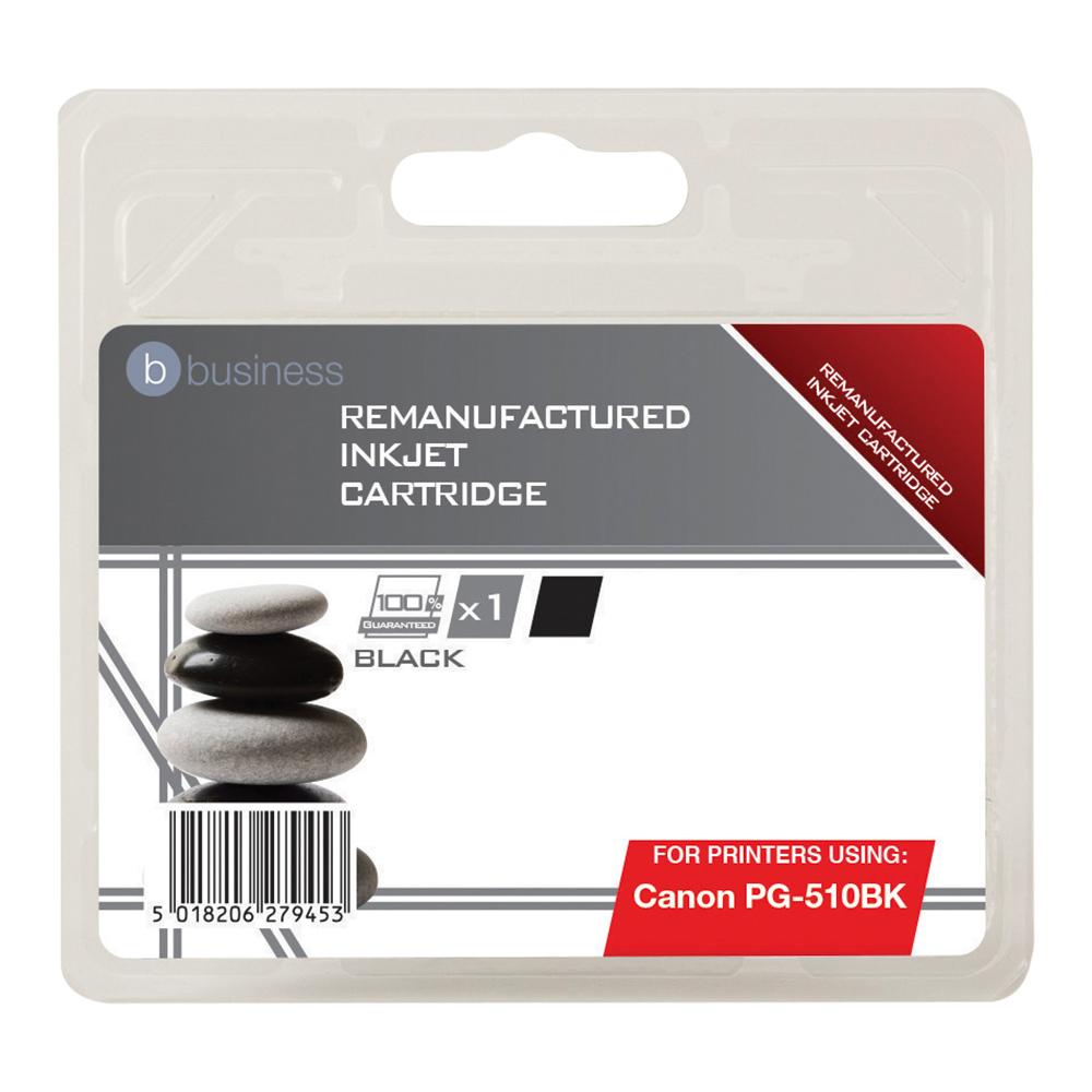 Business Remanufactured Inkjet Cartridge [Canon PG-510BK Alternative] Black