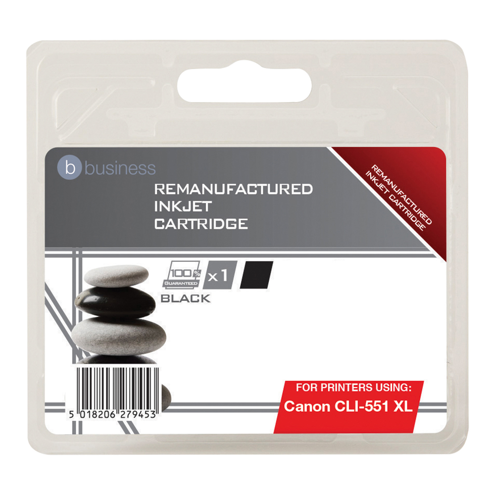 Business Remanufactured Inkjet Cartridge [Canon CLI-551 XL Alternative] Black