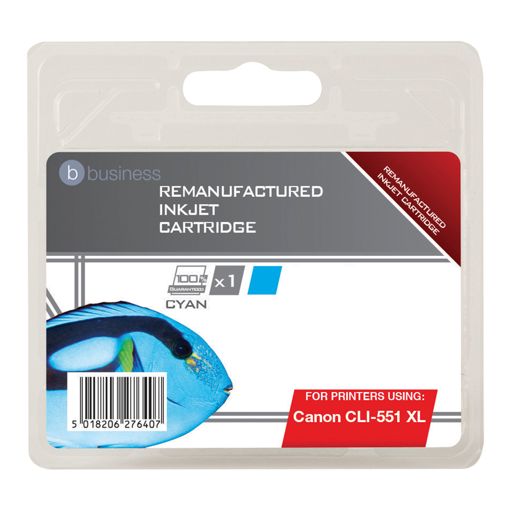 Business Remanufactured Inkjet Cartridge [Canon CLI-551 XL Alternative] Cyan