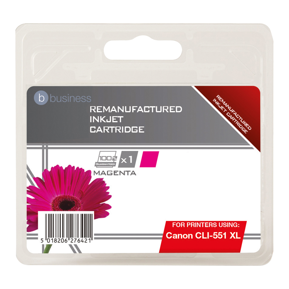 Business Remanufactured Inkjet Cartridge [Canon CLI-551 XL Alternative] Magenta