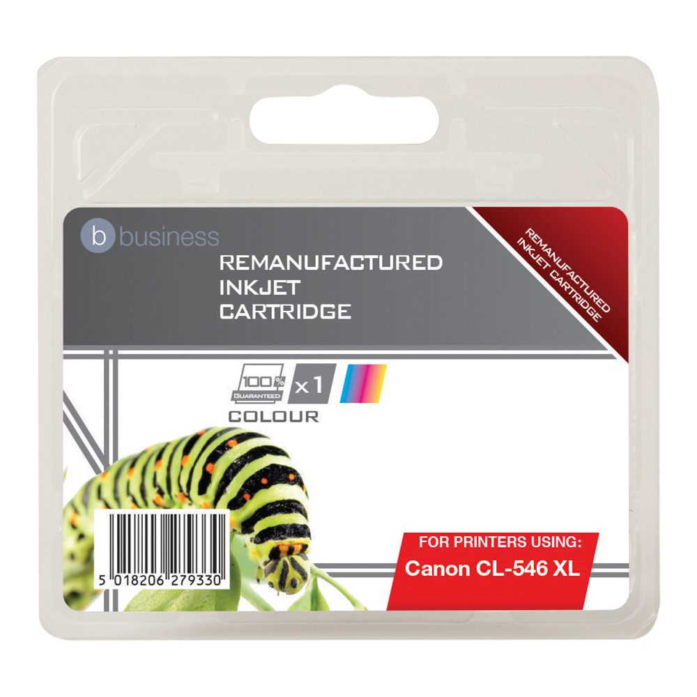 Business Remanufactured Inkjet Cartridge [Canon CL-546 XL Alternative] Colour