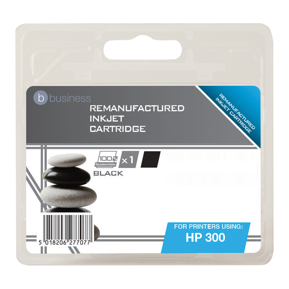 Business Remanufactured Inkjet Cartridge Page Life 200pp Black [HP No. 300 CC460EE Alternative]