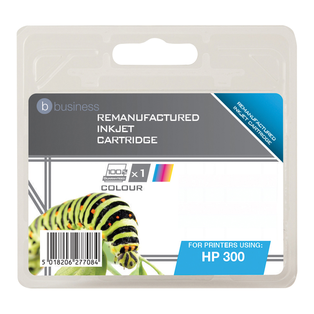 Business Remanufactured Inkjet Cartridge Page Life 165pp Colour [HP No. 300 CC463EE Alternative]