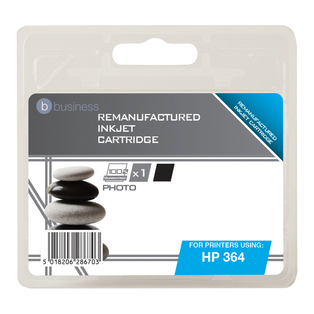 Business Remanufactured Inkjet Cartridge Page Life 130 Photos Black [HP No. 364 CB317EE Alternative]