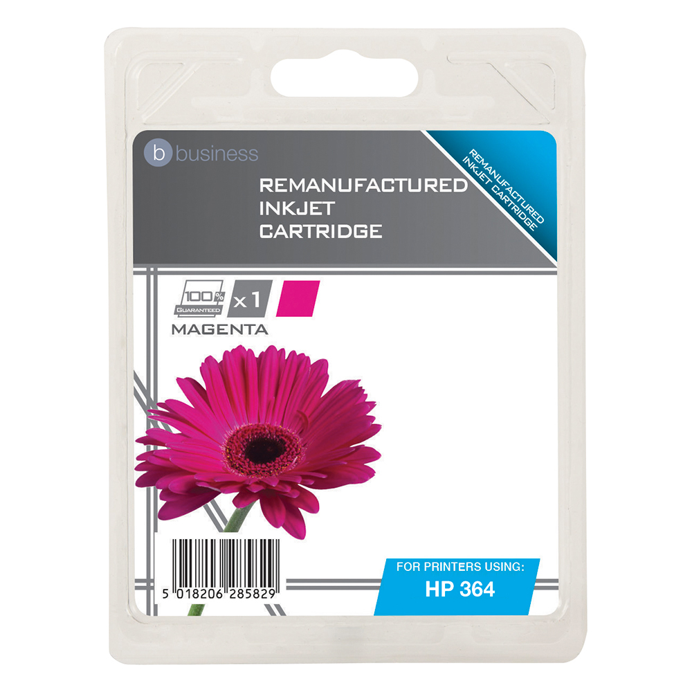Business Remanufactured Inkjet Cartridge Page Life 300pp Magenta [HP No. 364 CB319EE Alternative]