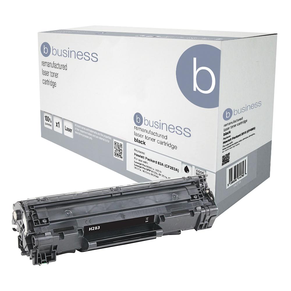 Business Remanufactured Laser Toner Cartridge Page Life 1500 Black [HP No. 83A CF283A Alternative]