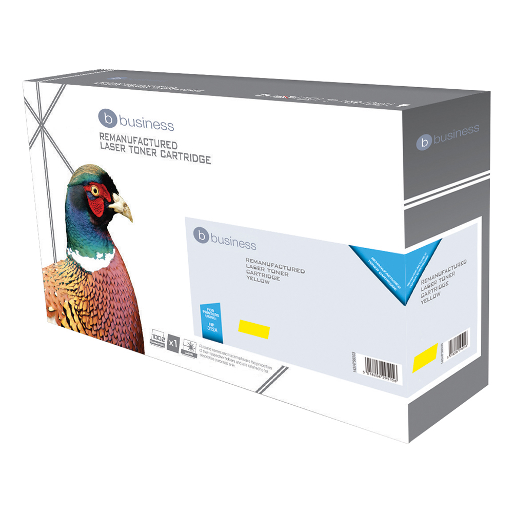 Business Remanufactured Laser Toner Cartridge Page Life 2700 Yellow [HP CF382A Alternative]