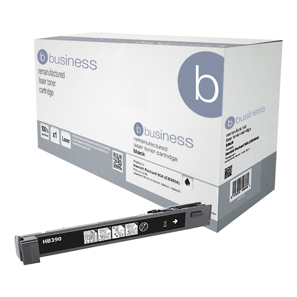 Business Remanufactured Laser Toner Cartridge Page Life 19500pp Black [HP 825A CB390A Alternative]
