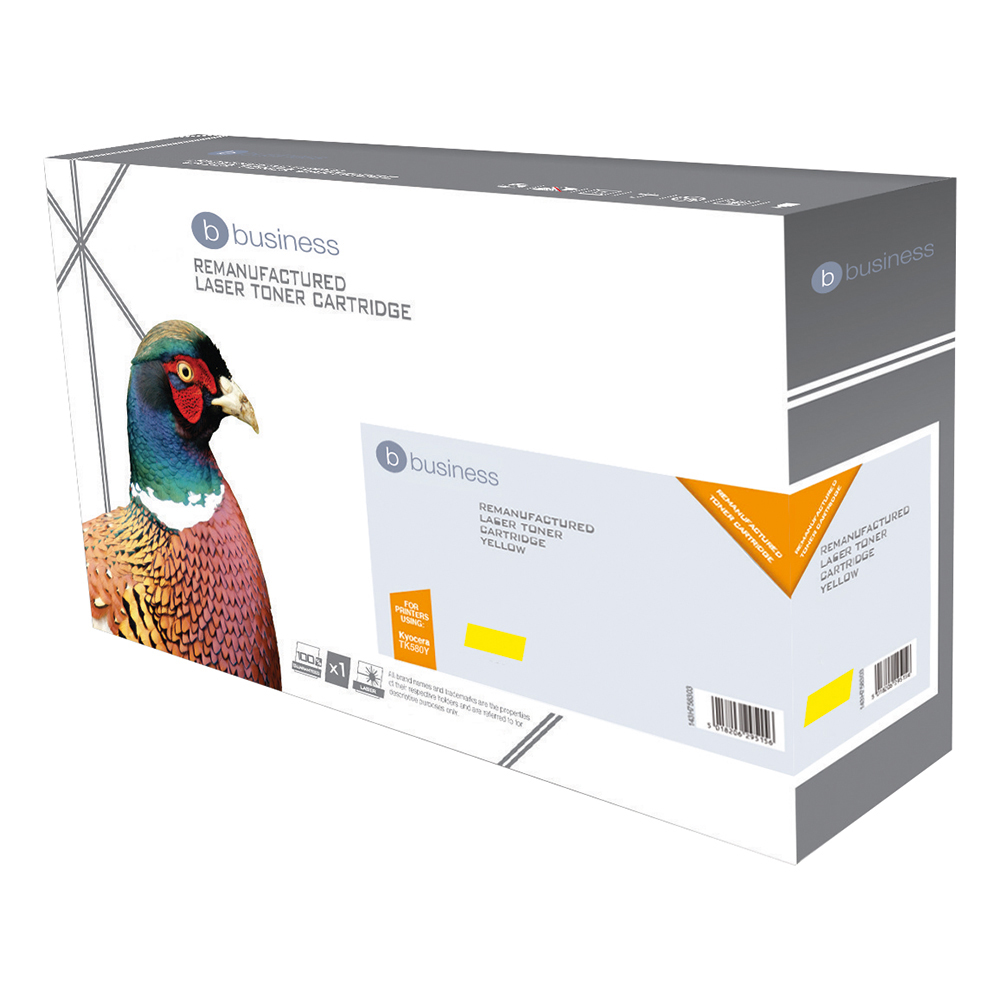 Business Remanufactured Laser Toner Cartridge 2800pp Yellow [Kyocera 1T02KTANL0 Alternative]