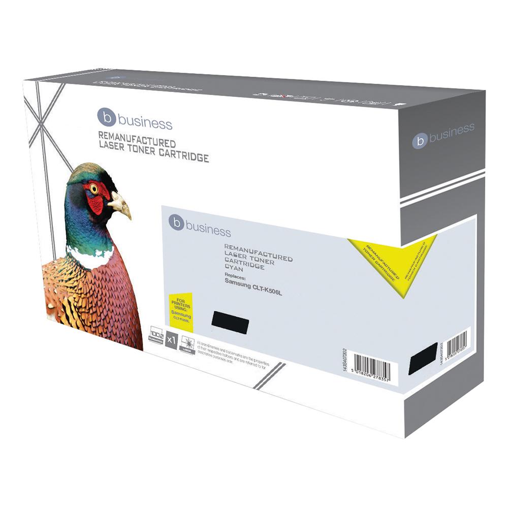Business Remanufactured Laser Toner Cartridge Page Life 2000pp Black [Samsung CLT-K506 Alternative]