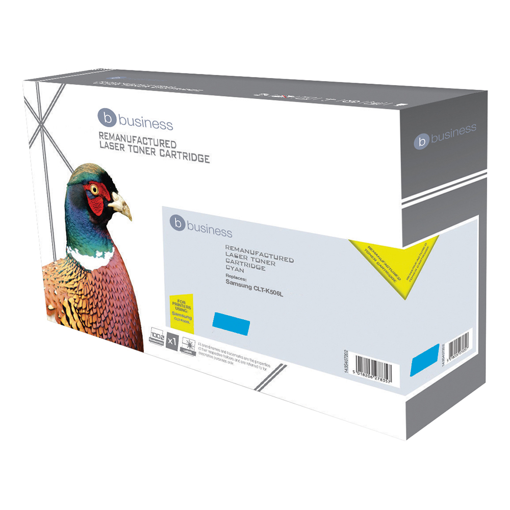 Business Remanufactured Laser Toner Cartridge Page Life 1500pp Cyan [Samsung CLT-C506 Alternative]
