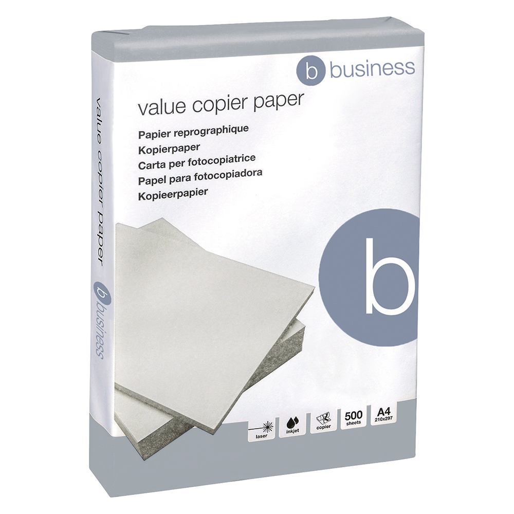 Business Copier Paper Ream-Wrapped A4 White 500 Sheets