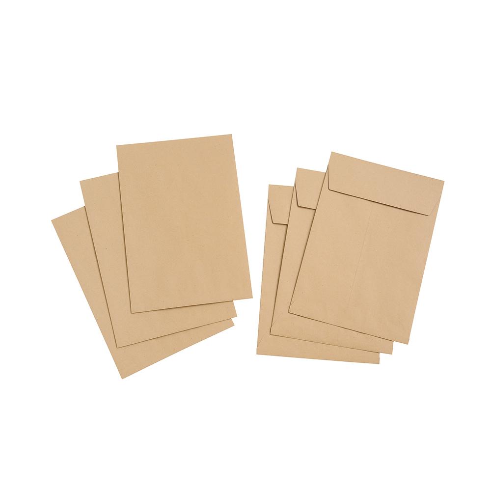 Basics Envelope Gusset Peel and Seal 115gsm Manilla C4 [Pack 125]