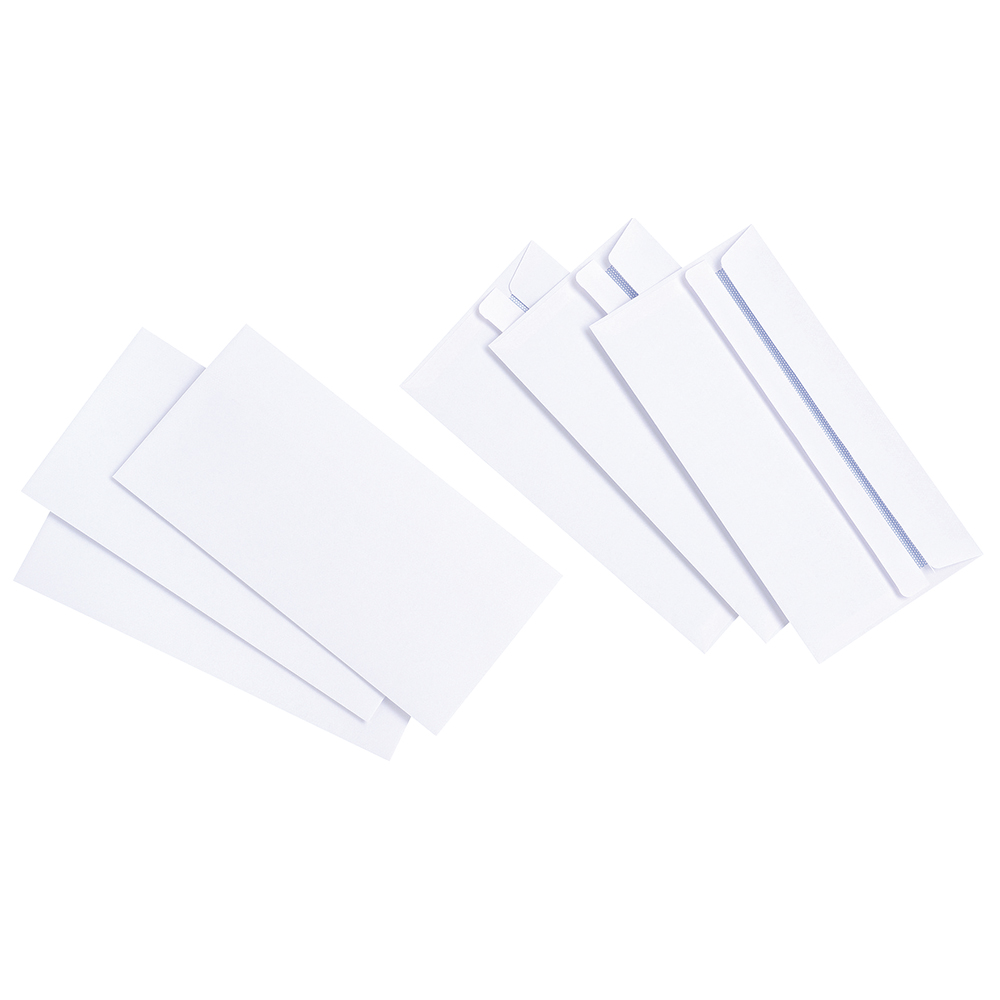 Basics Envelopes Press Seal Non-Window 90gsm DL Ref 1081 [Pack 1000]