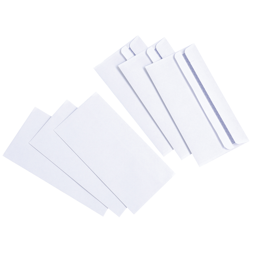 Basics Envelope Press Seal Wallet 80gsm DL White [Pack 1000]