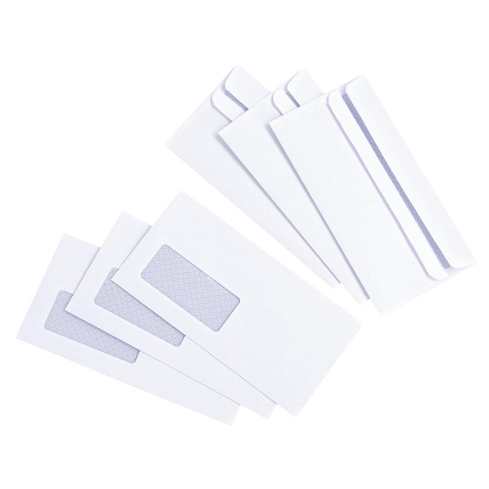 Basics Envelope Press Seal Window Wallet DL White [Pack 1000]