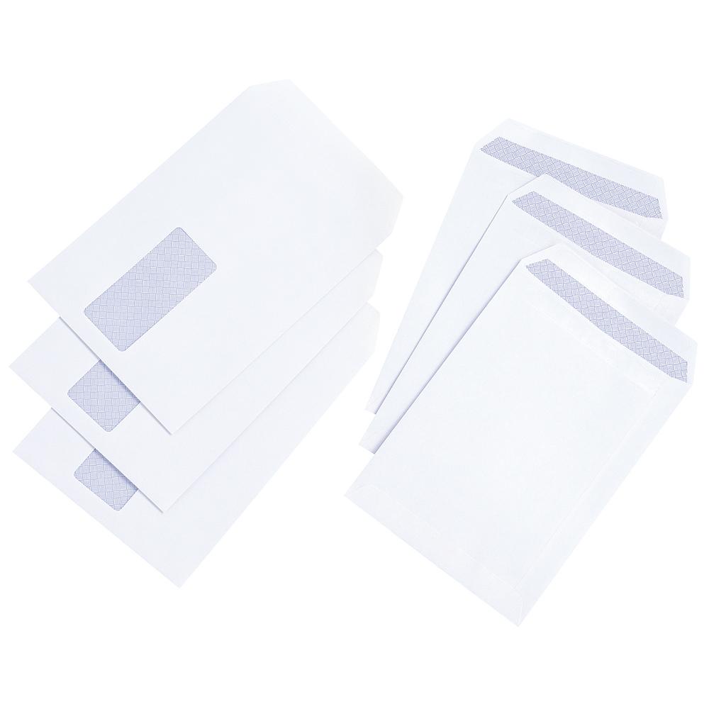 Basics Envelope Pocket Press Seal Window 100gsm White C5 [Pack 500]