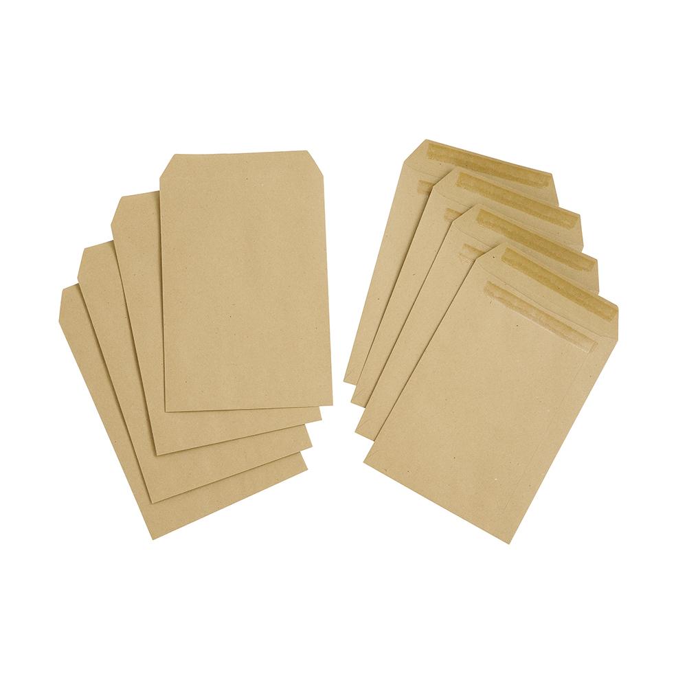 Basics Envelope Manilla Press Seal Pocket Plain C5 Buff [Pack 500]