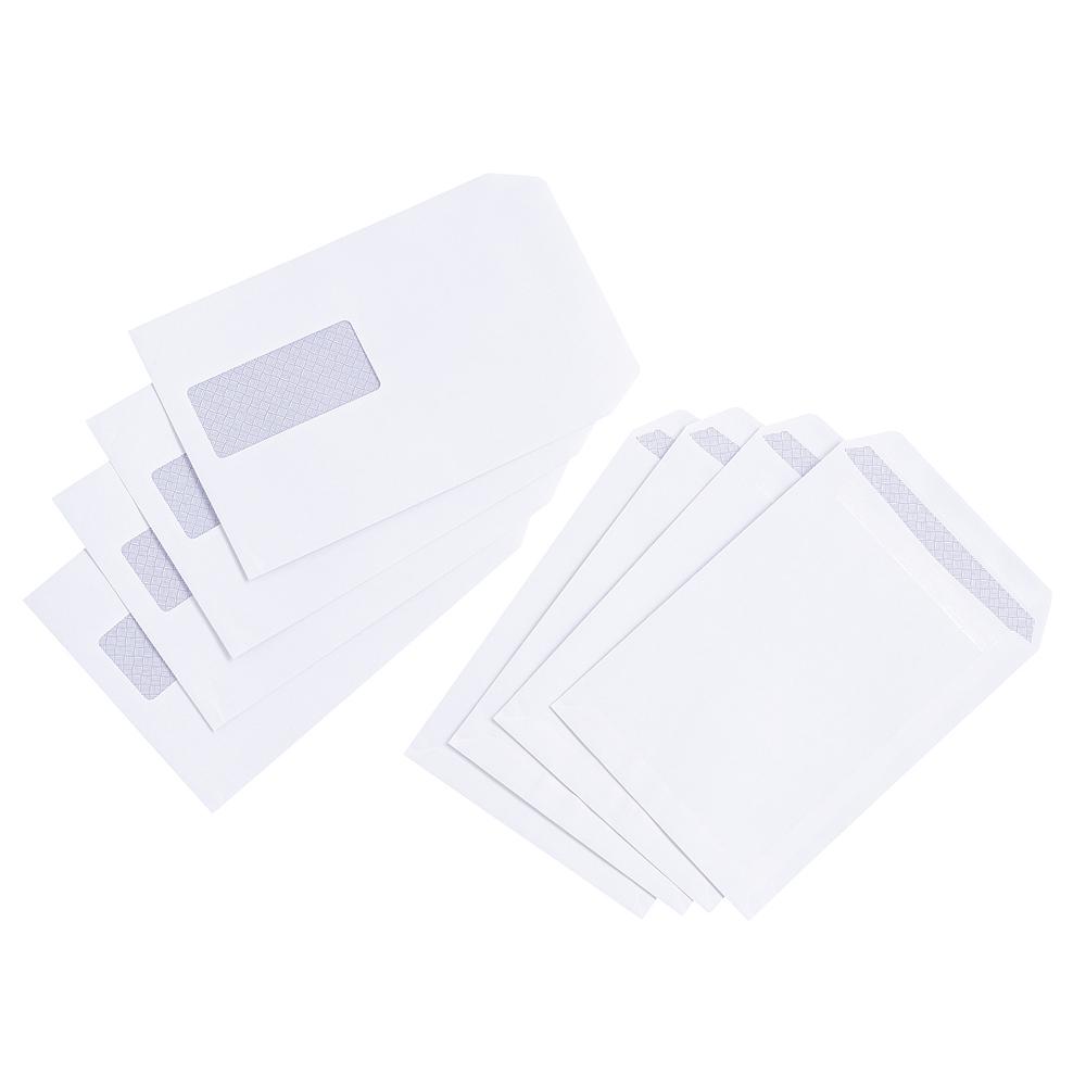 Basics Envelope Pocket Press Seal Window 90gsm White C5