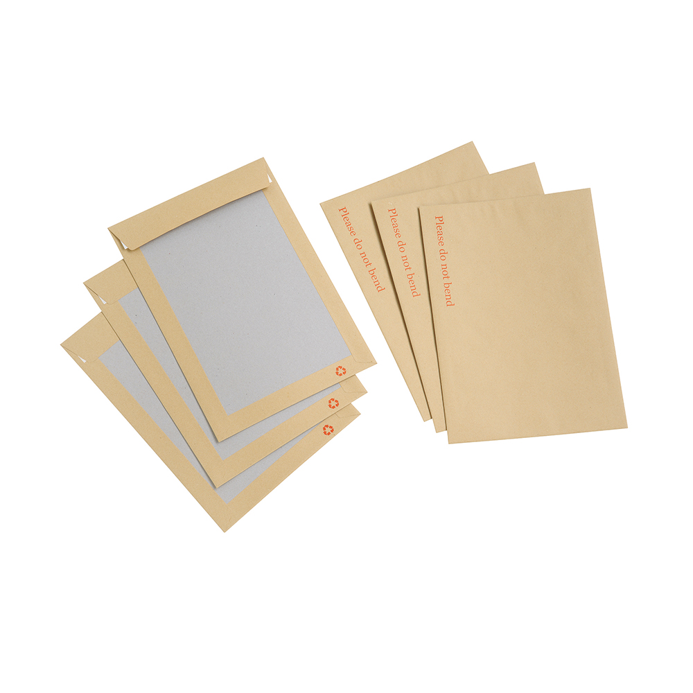 Basics Envelope Boardback Peel and Seal 115gsm Manilla C4 [Pack 125]