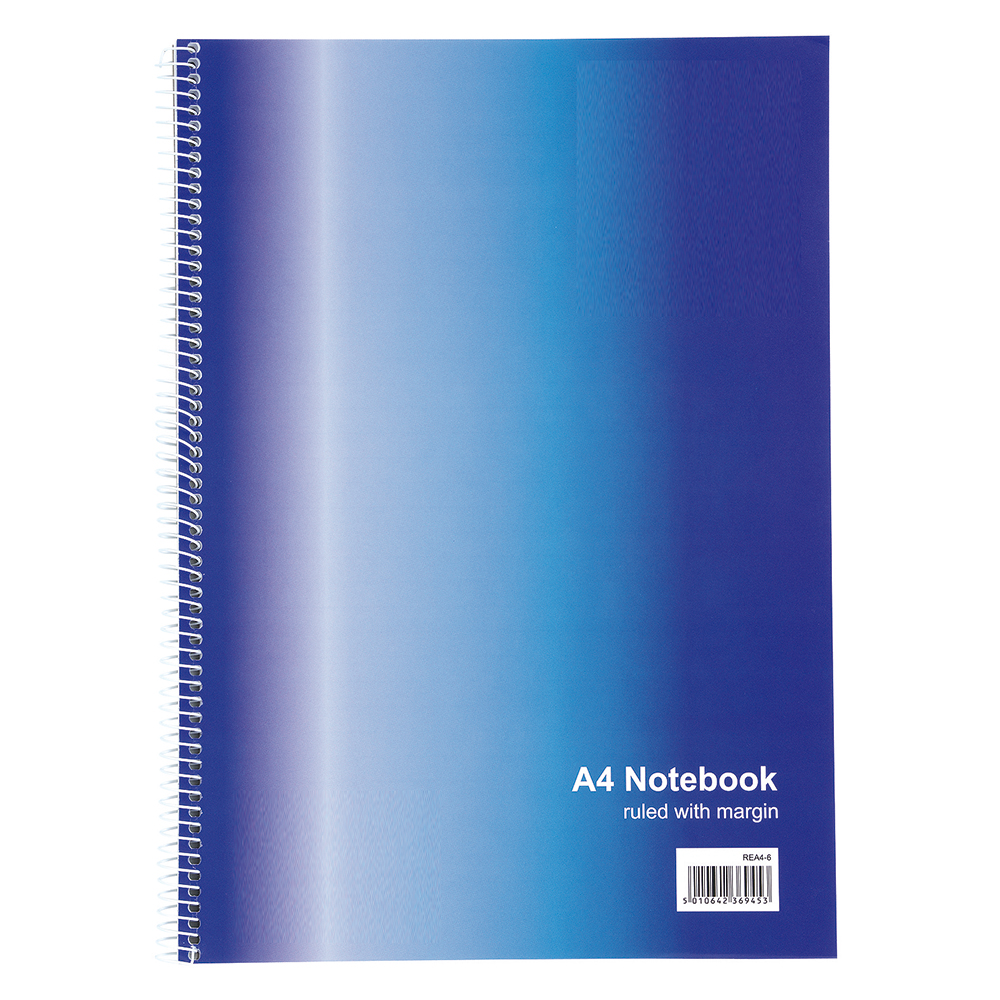 Basics Wirebound Notebook Ruled 100 Pages A4 [Pack 10]