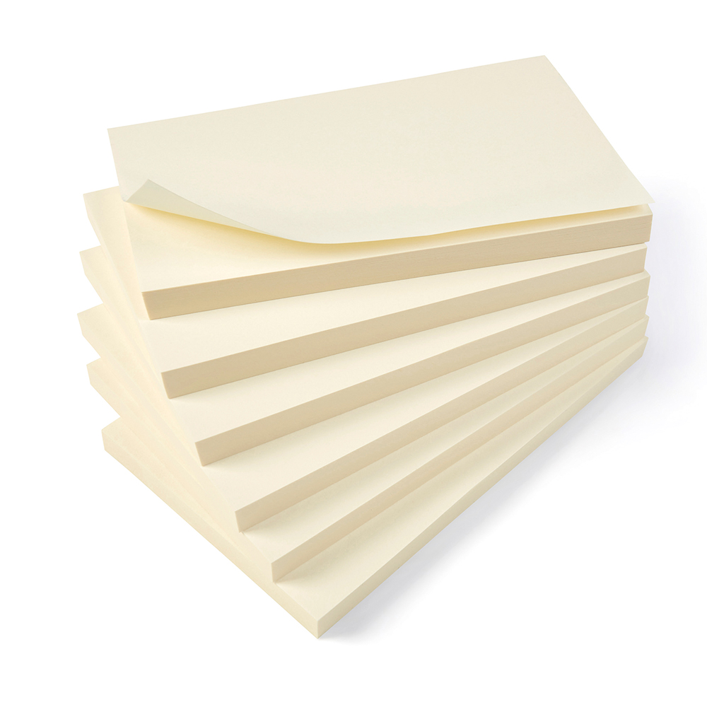Basics Repositionable Notes 75x127mm Yellow [Pack 12]