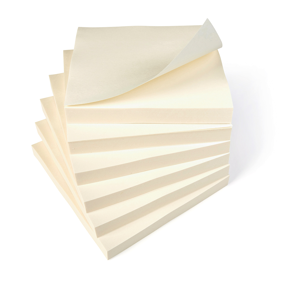 Basics Repositionable Notes 75x75mm Yellow [Pack 12]