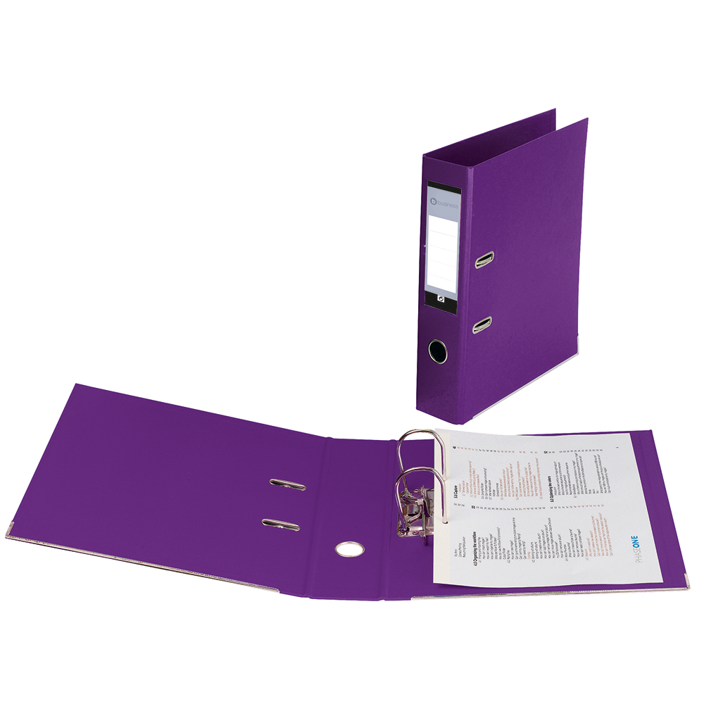 Business Lever Arch File Plastic A4 Purple [Pack 10]