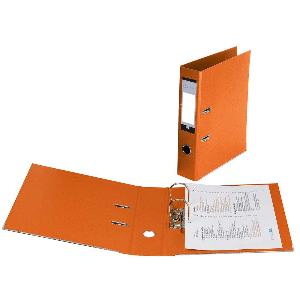 Business Lever Arch File Plastic A4 Orange [Pack 10]