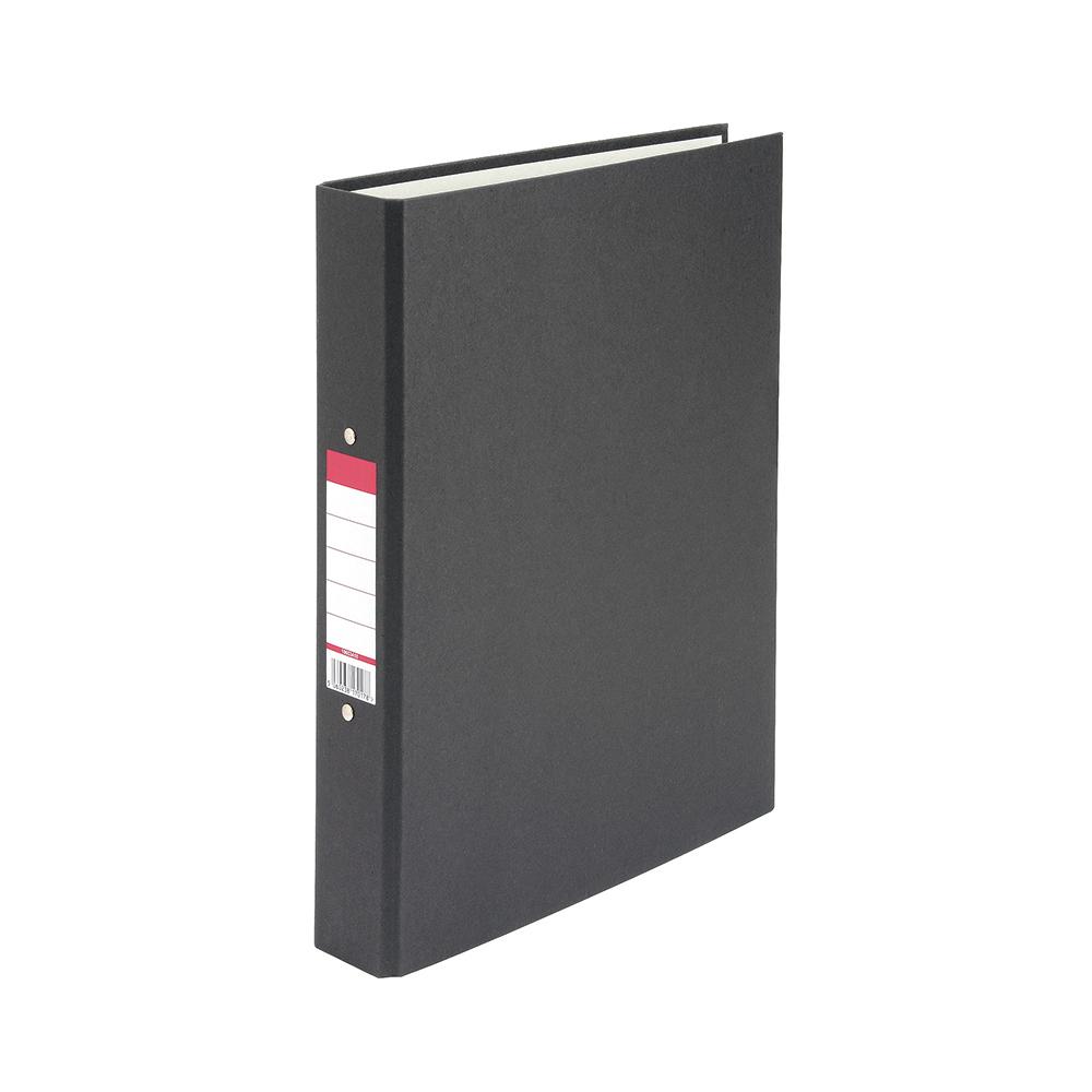 Basics Ringbinder Paper Over Board Size 25mm Black [Pack 10]