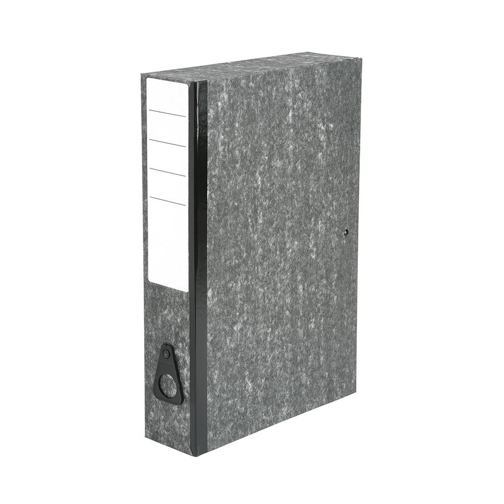 Basics Box File 75mm Spine Foolscap Cloud [Pack 10]