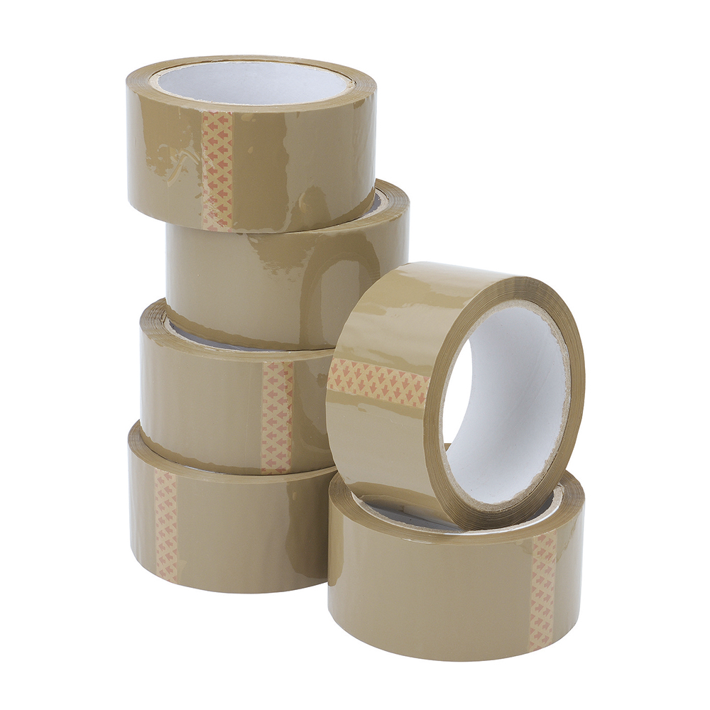 Business Packaging Tape 50mmx66m Buff [Pack 6]