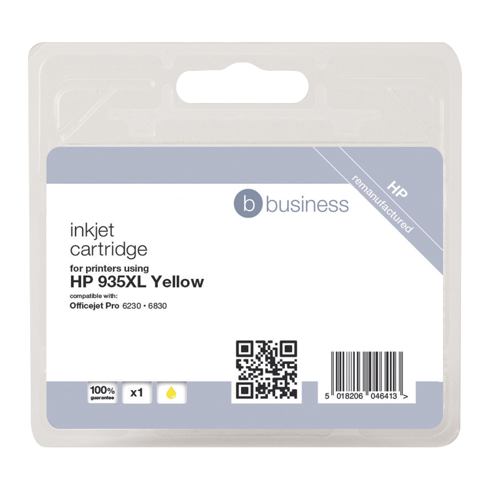 Business Remanufactured Inkjet Cartridge Page Life 825pp Yellow [HP No. 935XL C2P26AE Alternative]