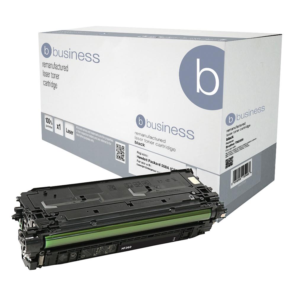 Business Remanufactured Laser Toner Cartridge 6000pp Black [HP No. 508A CF360A Alternative]