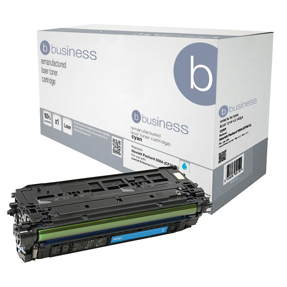Business Remanufactured Laser Toner Cartridge 5000pp Cyan [HP No. 508A CF361A Alternative]