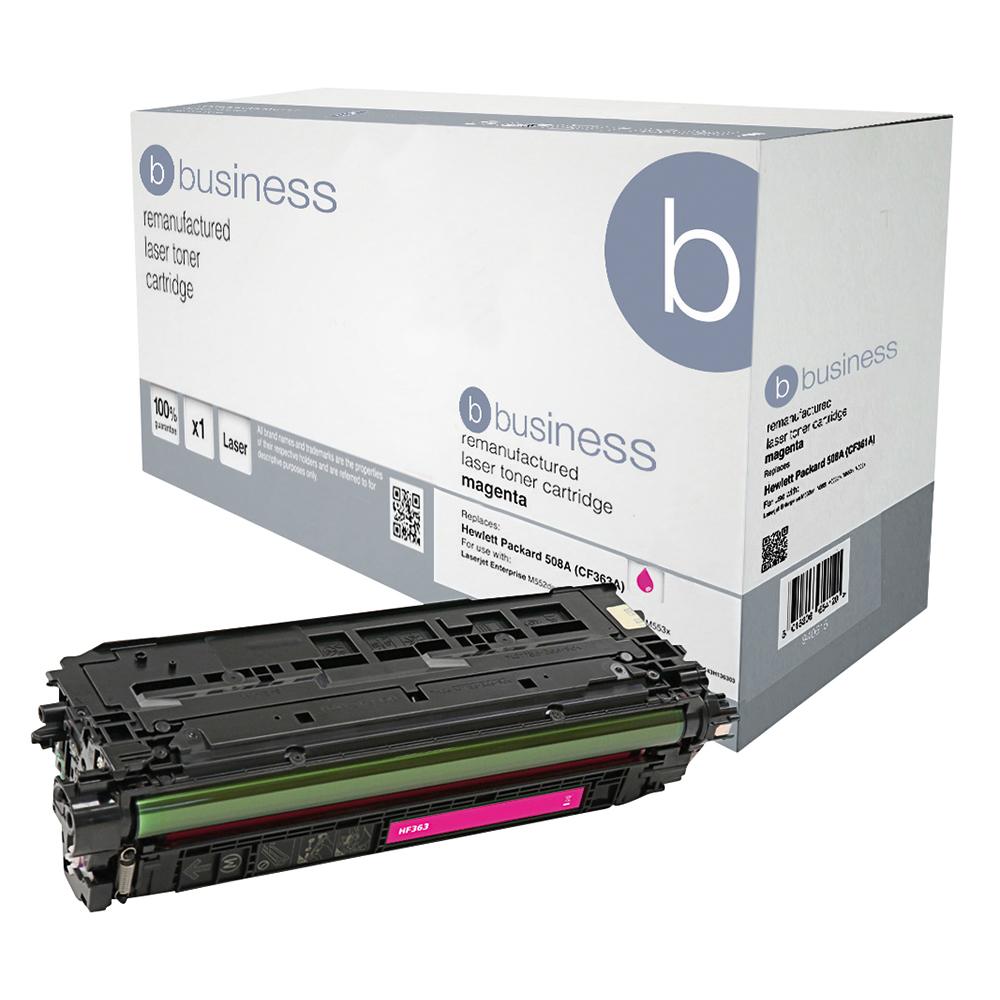 Business Remanufactured Laser Toner Cartridge 5000pp Magenta [HP No. 508A CF363A Alternative]