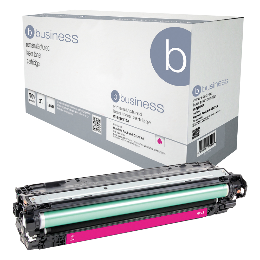Business Remanufactured Laser Toner Cartridge Page Life 15000pp Magenta [HP 650A CE273A Alternative]